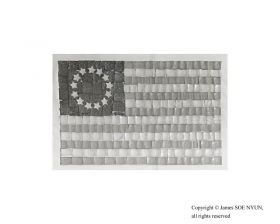 Unofficial 13-Star Flag (The Betsy Ross Flag) 1776 (Spam and Yellow and White American Cheeses)