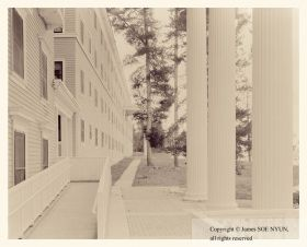 Portico, Yellowstone Lake Hotel, Yellowstone National Park